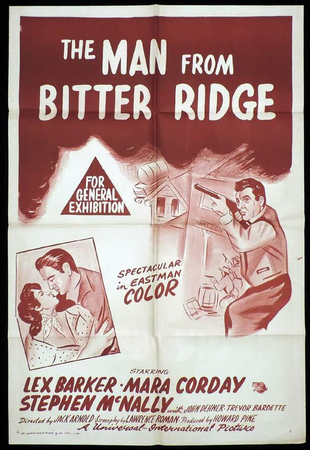 THE MAN FROM BITTER RIDGE One Sheet Movie Poster Lex Barker Western