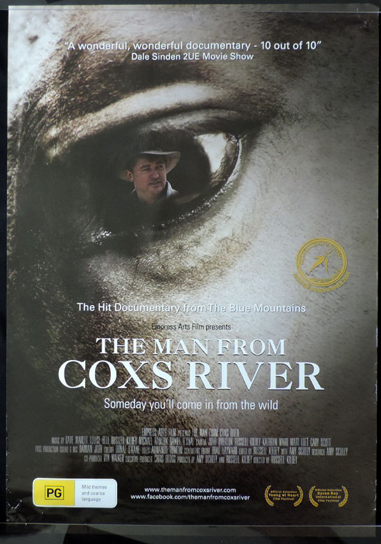 "MAN FROM COXS RIVER Movie poster 1983 Steve Bisley Australian Cinema One sheet ""A"""