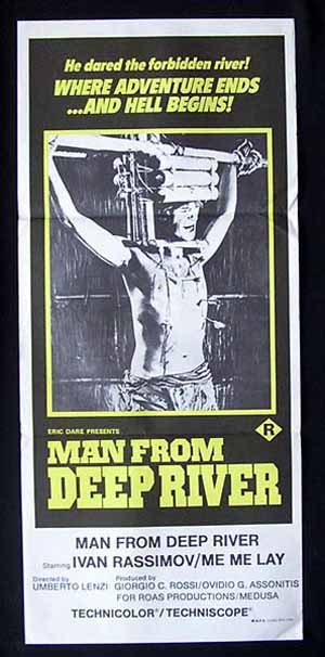 THE MAN FROM DEEP RIVER 1972 Umberto Lenzi RARE daybill Movie poster