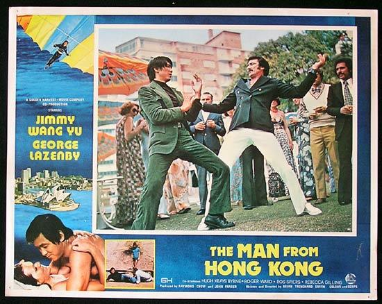 MAN FROM HONG KONG 1975 George Lazenby RARE Lobby Card 1