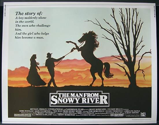 MAN FROM SNOWY RIVER '81 Rare US Half Sheet Original Movie Poster