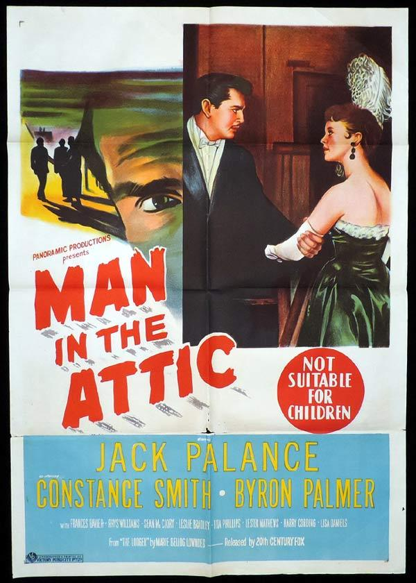MAN IN THE ATTIC One Sheet Movie Poster Jack Palance