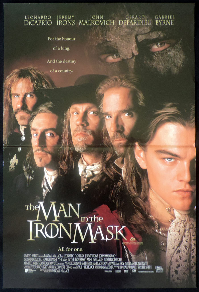 MAN IN THE IRON MASK Original Daybill Movie poster Leonardo DiCaprio