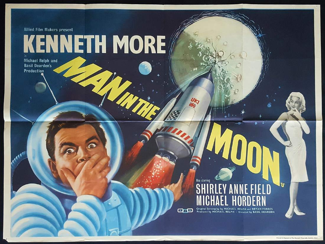 MAN IN THE MOON British Quad Movie poster Kenneth More Shirley Anne Field