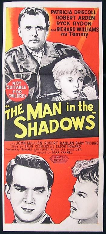 THE MAN IN THE SHADOWS Film Noir Daybill Movie poster