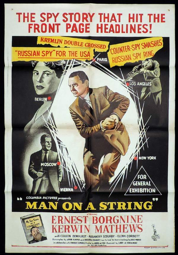 MAN ON A STRING One Sheet Movie Poster MAN ON A STRING Ernest Borgnine