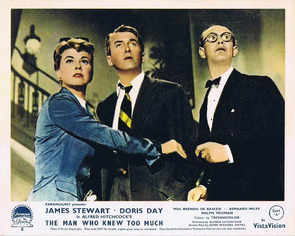 THE MAN WHO KNEW TOO MUCH Front of House Movie Still 2 James Stewart