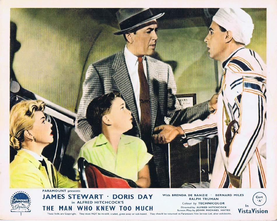 THE MAN WHO KNEW TOO MUCH Front of House Movie Still 3 James Stewart