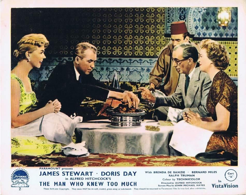 THE MAN WHO KNEW TOO MUCH Front of House Movie Still 4 James Stewart