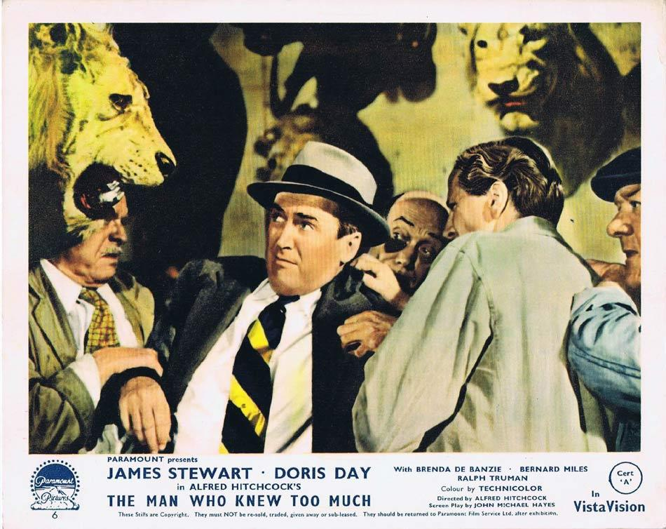 THE MAN WHO KNEW TOO MUCH Front of House Movie Still 7 James Stewart