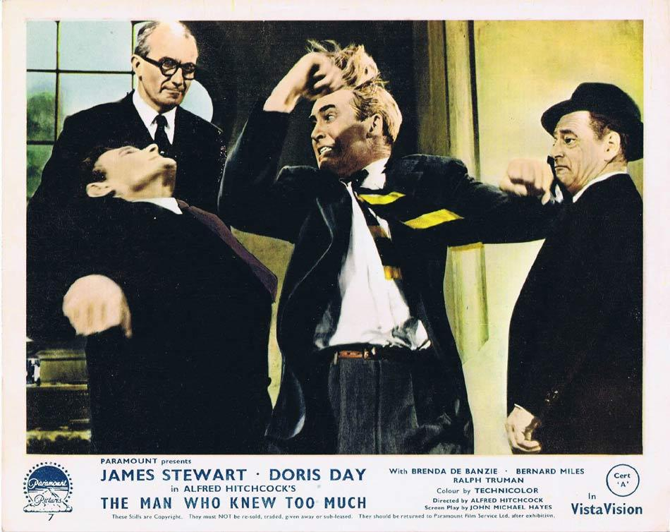 THE MAN WHO KNEW TOO MUCH Front of House Movie Still 8 James Stewart