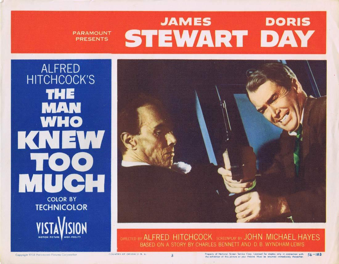THE MAN WHO KNEW TOO MUCH Original Lobby Card 3 James Stewart Doris Day