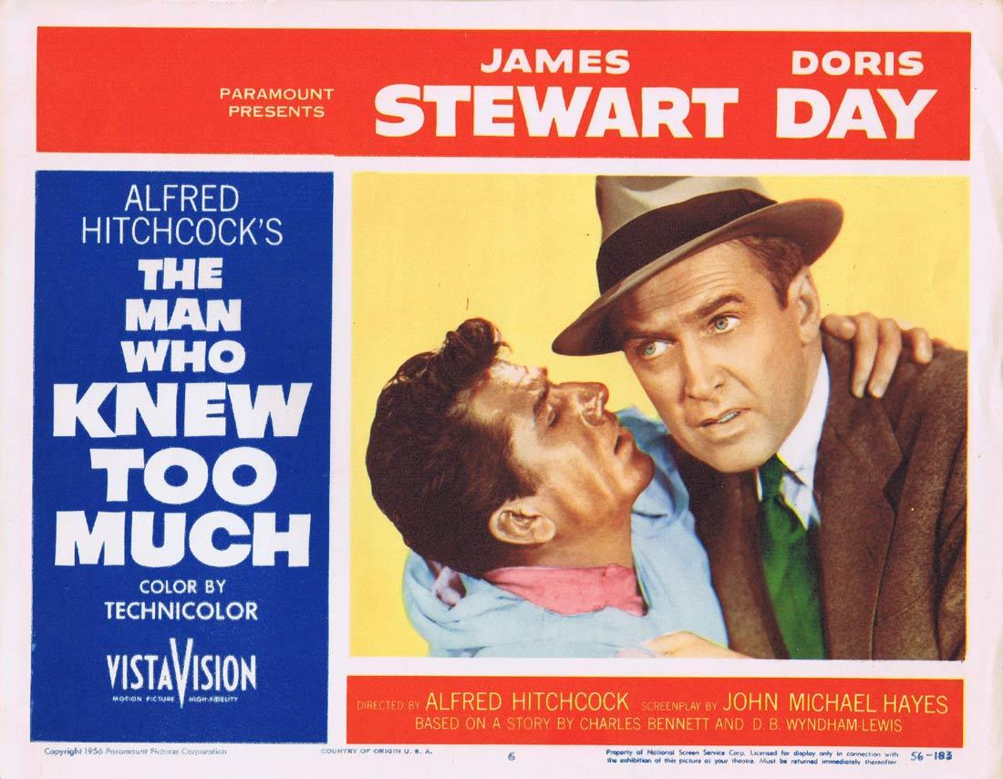 THE MAN WHO KNEW TOO MUCH Original Lobby Card 6 James Stewart Doris Day