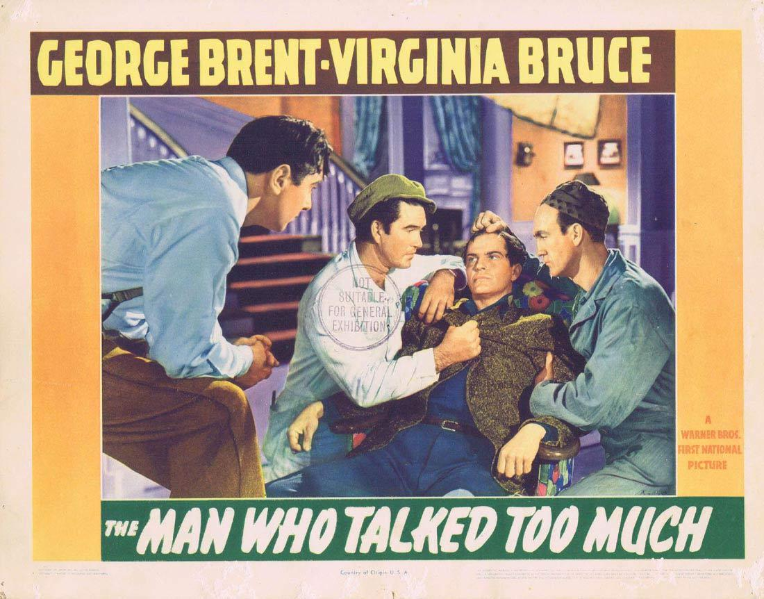 THE MAN WHO TALKED TOO MUCH Lobby Card 2 George Brent Virginia Bruce Brenda Marshall