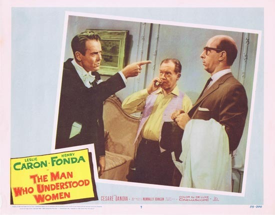 MAN WHO UNDERSTOOD WOMEN Lobby Card 7 Leslie Caron Henry Fonda 1959