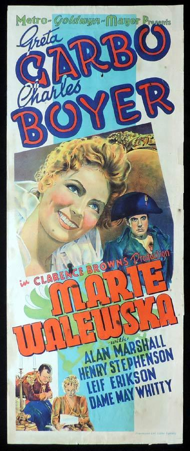 MARIE WALEWSKA aka CONQUEST Long Daybill Movie poster 1937 Greta Garbo