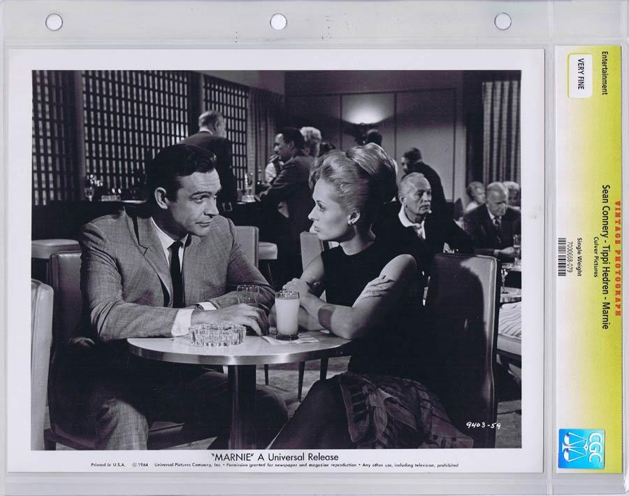 MARNIE Vintage CGC graded Movie Still Alfred Hitchcock Sean Connery Tippi Hedren 3