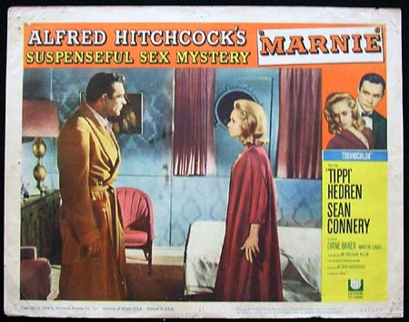 MARNIE Lobby Card 1 1964 Alfred Hitchcock Connery Hedren