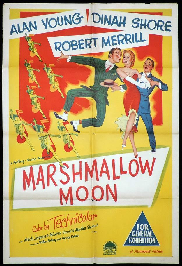 MARSHMALLOW MOON One Sheet Movie Poster Alan Young Dinah Shore
