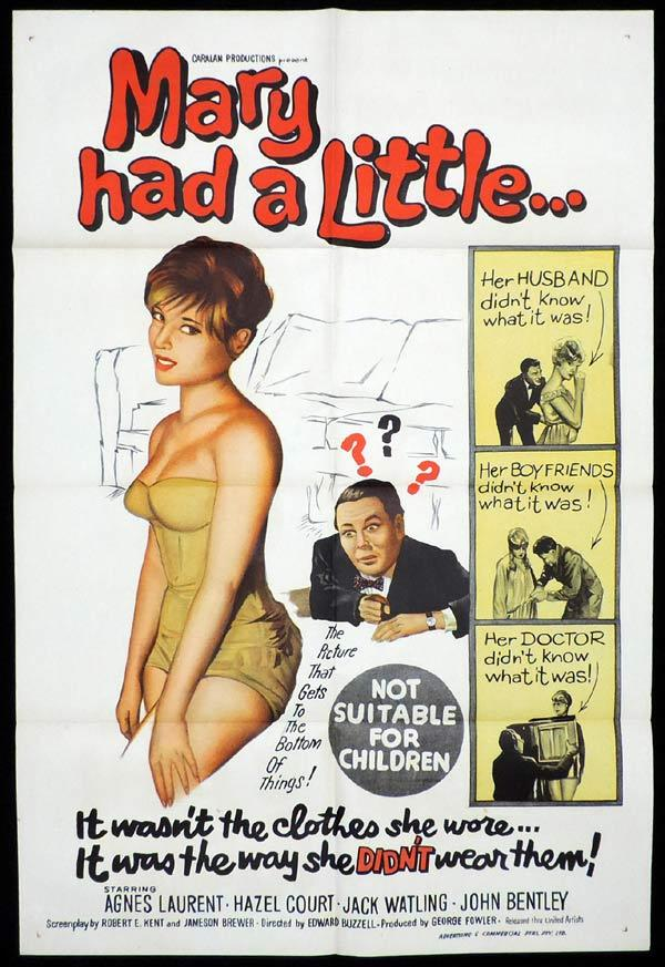 MARY HAD A LITTLE One Sheet Movie Poster Hazel Court British Comedy