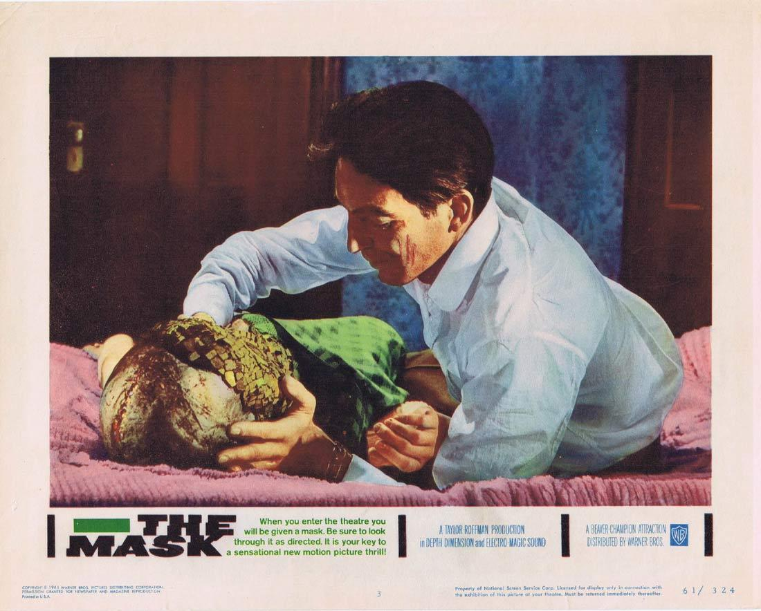 THE MASK Original Lobby Card 3 Paul Stevens Claudette Nevins Bill Walker