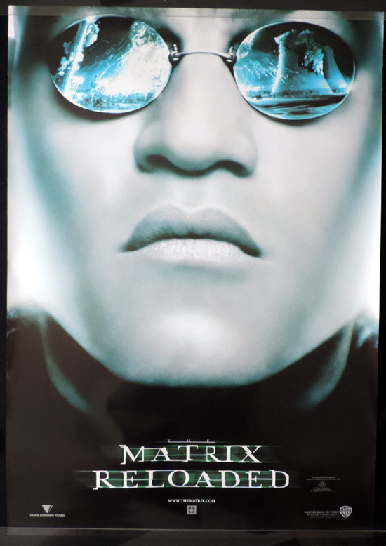 MATRIX RELOADED teaser Australian One sheet Movie Poster Laurence Fishburne as Morpheus
