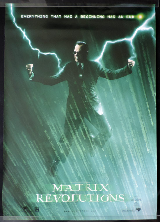 MATRIX REVOLUTIONS Vintage Australian One sheet Movie Poster