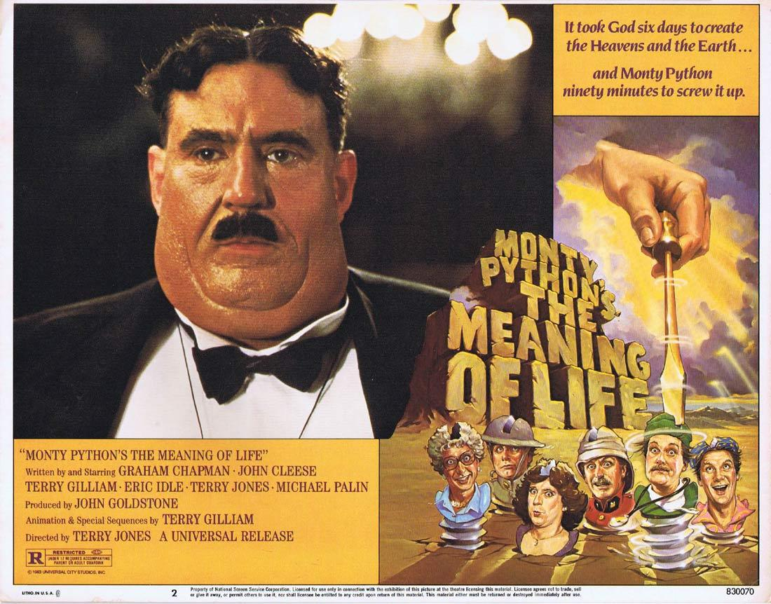 THE MEANING OF LIFE Movie Lobby Card 2 MONTY PYTHON Graham ...  Terry