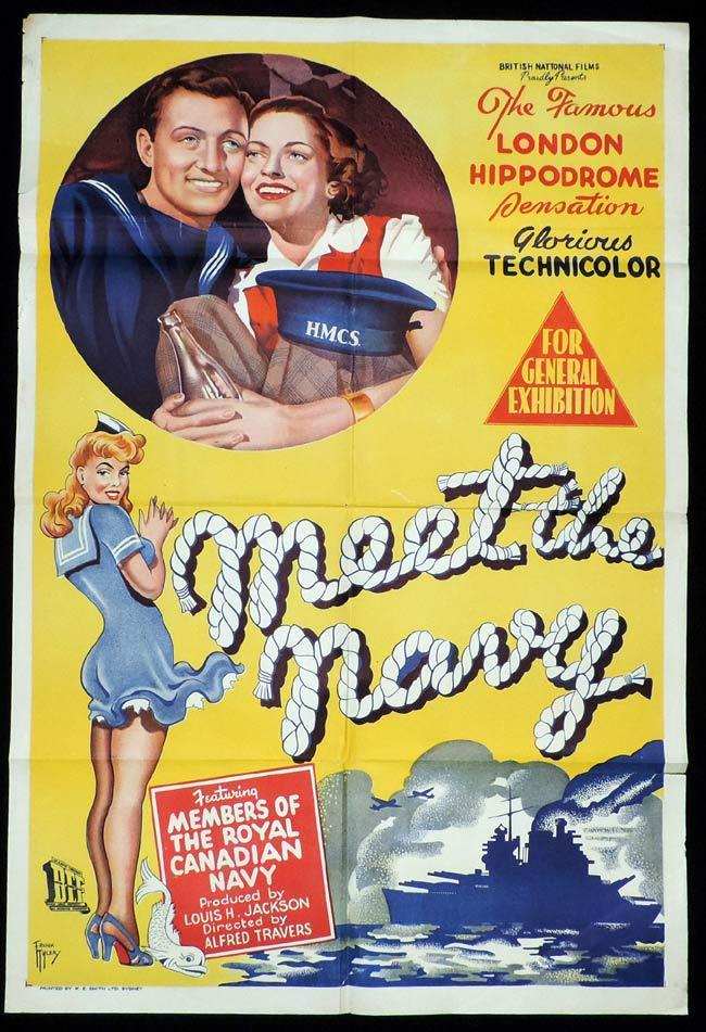 MEET THE NAVY Original One sheet Movie Poster Lionel Murton Margaret Hurst
