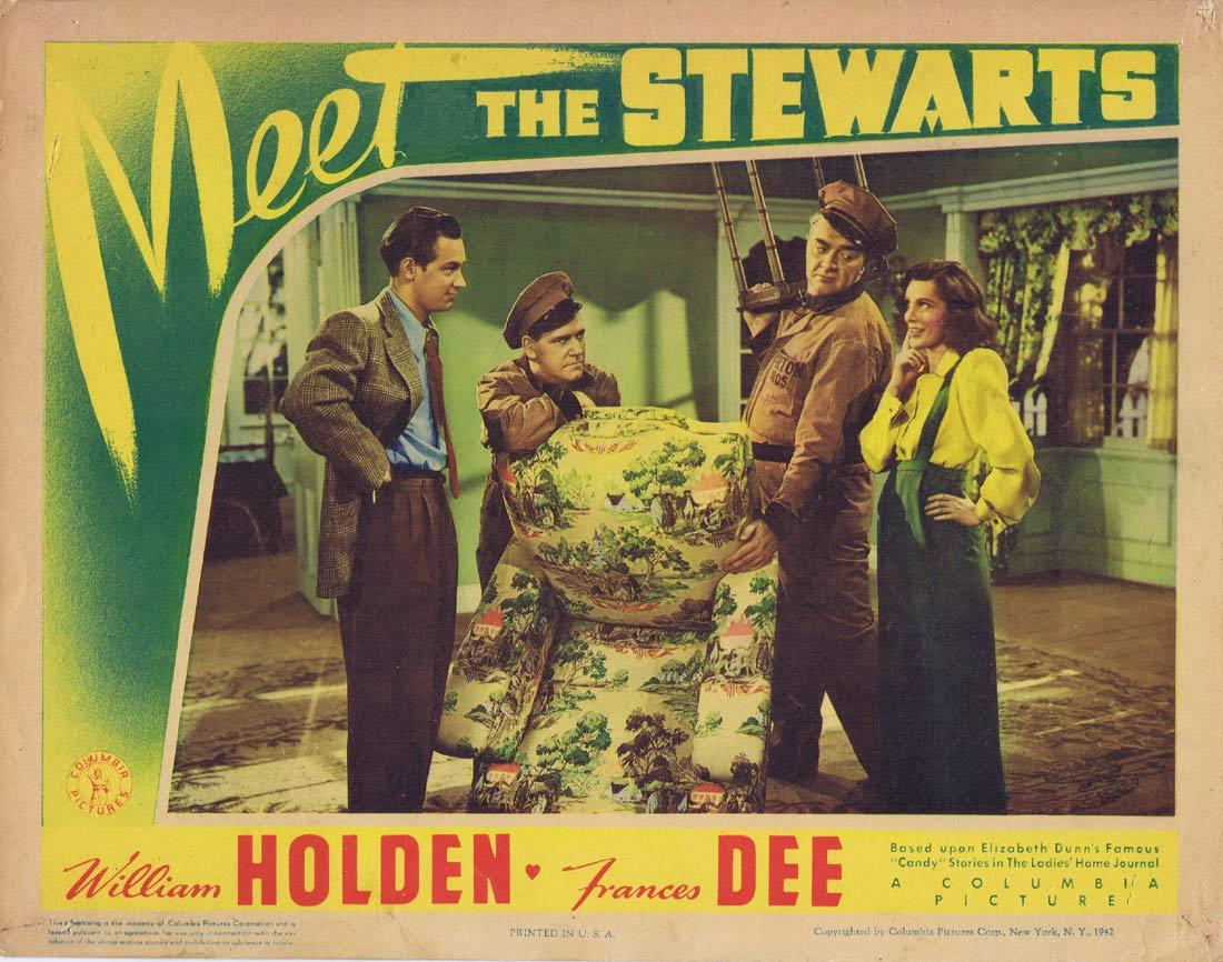 MEET THE STEWARTS Lobby Card William Holden Frances Dee Grant Mitchell
