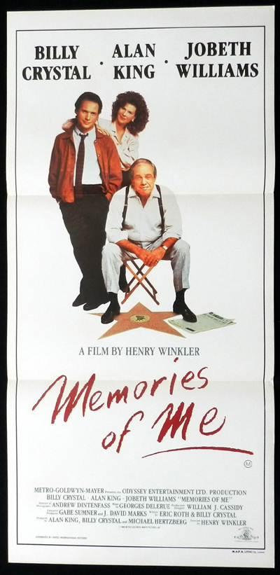 MEMORIES OF ME Billy Crystal ORIGINAL Daybill Movie poster