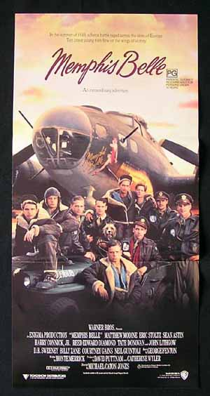 MEMPHIS BELLE 1990 Australian daybill Movie Poster