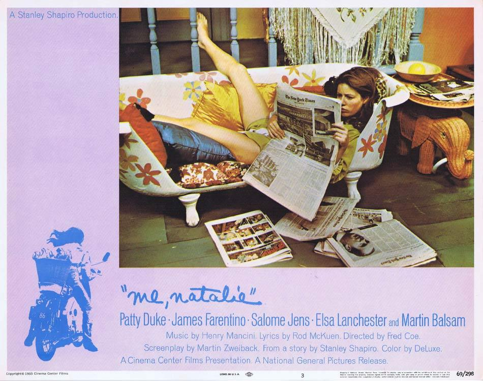 ME NATALIE Lobby Card 3 Patty Duke James Farentino Salome Jens