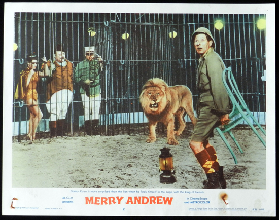 MERRY ANDREW 1958 Danny Kaye CIRCUS Lobby Card 2