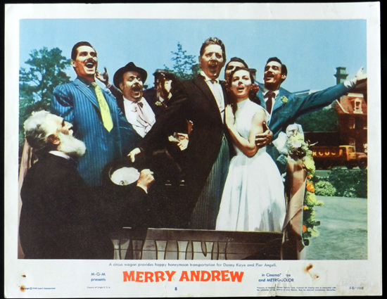 MERRY ANDREW 1958 Danny Kaye CIRCUS Lobby Card 8