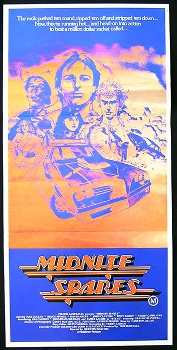MIDNITE SPARES '83 Bruce Spence Max Cullen ORIGINAL daybill Movie poster