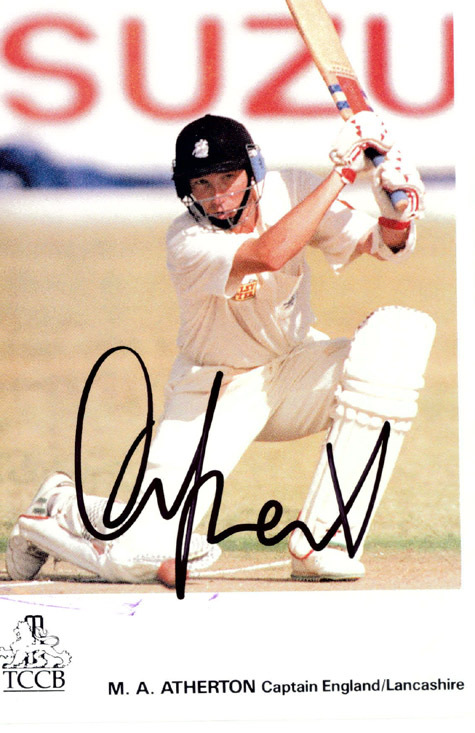 MIKE ATHERTON Cricket Autographed Photo England Captain