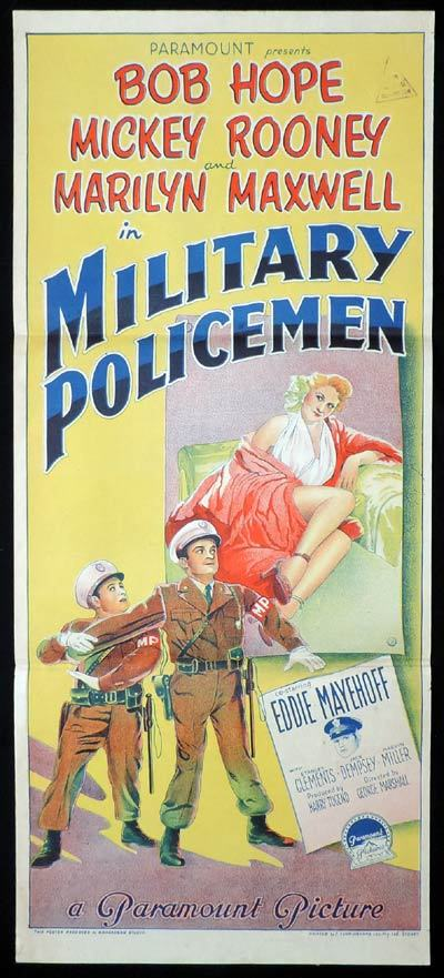 MILITARY POLICEMAN aka OFF LIMITS Richardson Studio BOB HOPE Daybill Movie poster