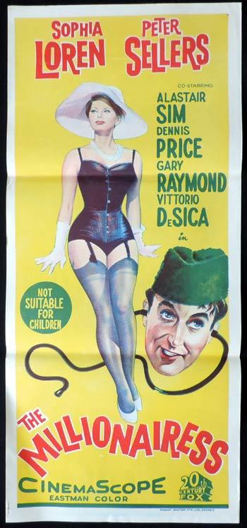 the millionairess daybill movie poster sophia loren peter