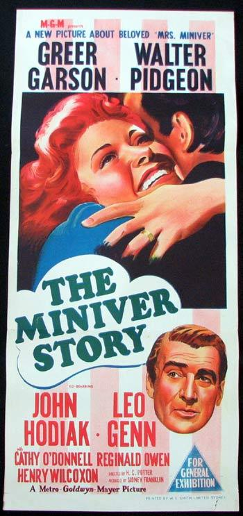 THE MINIVER STORY Daybill Movie poster Greer Garson Walter Pidgeon