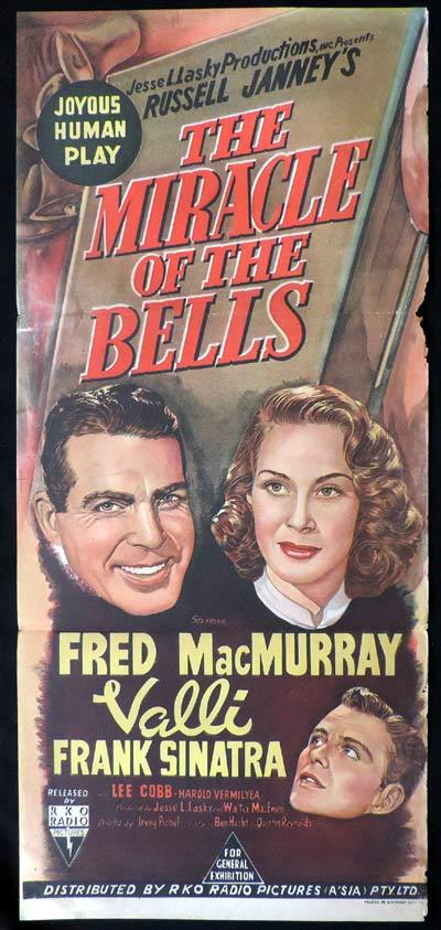 MIRACLE OF THE BELLS Daybill Movie poster RKO Fred MacMurray Frank Sinatra