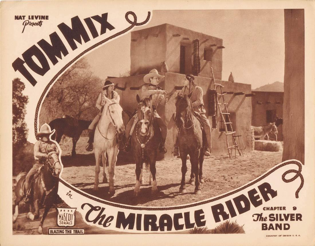 THE MIRACLE RIDER Original Lobby Card Mascot Serial 1935 Tom Mix
