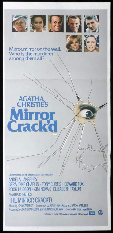 THE MIRROR CRACK'D Original Daybill Movie Poster Elizabeth Taylor Rock Hudson Agatha Christie