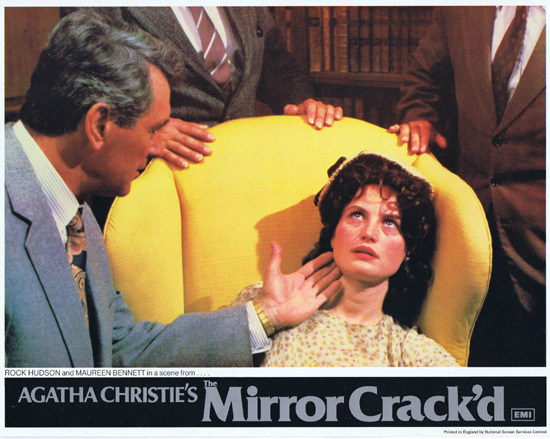 THE MIRROR CRACK'D 1980 Lobby Card 2 Rock Hudson Maureen Bennett