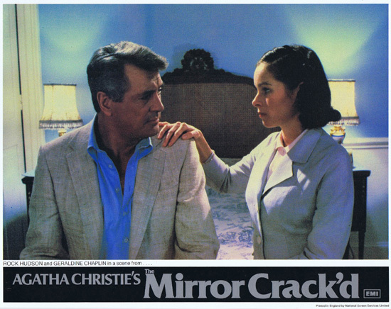 THE MIRROR CRACK'D 1980 Lobby Card 3 Rock Hudson Geraldine Chaplin