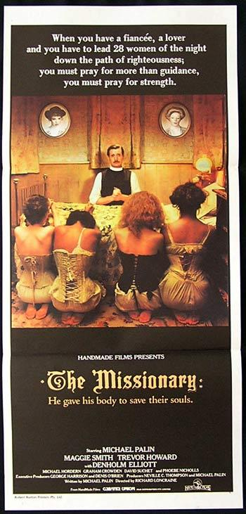 THE MISSIONARY Original Daybill Movie Poster Michael Palin Maggie Smith