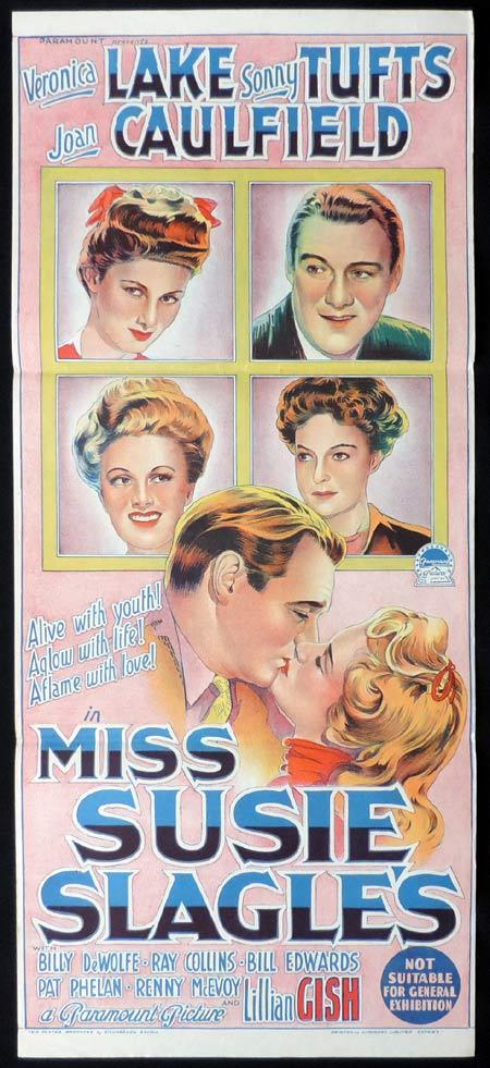 MISS SUSIE SLAGLES Original Daybill Movie Poster VERONICA LAKE Richardson Studio