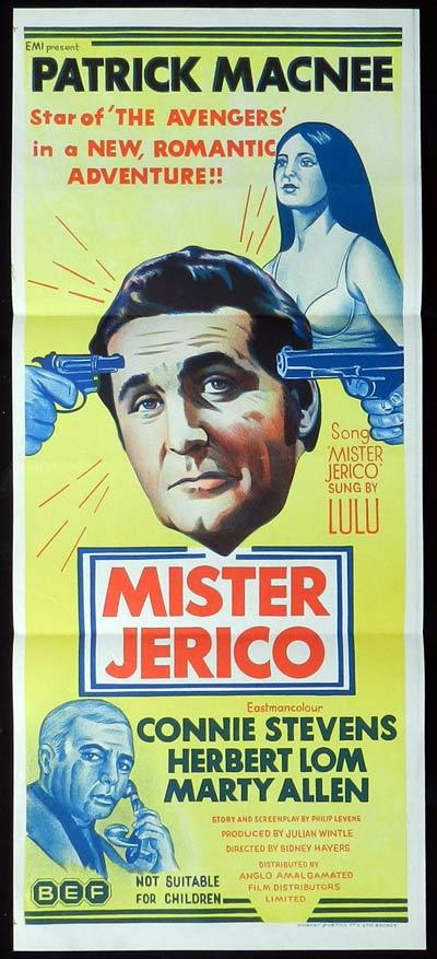 MISTER JERICO Original Daybill Movie Poster  Patrick MacNee Connie Stevens