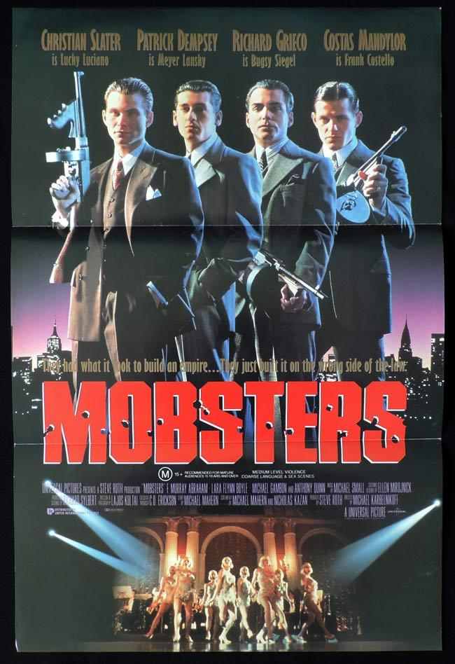 MOBSTERS Daybill Movie poster Christian Slater