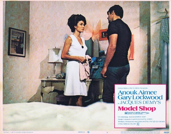MODEL SHOP 1969 Anouk Aimee Gary Lockwood US Lobby card